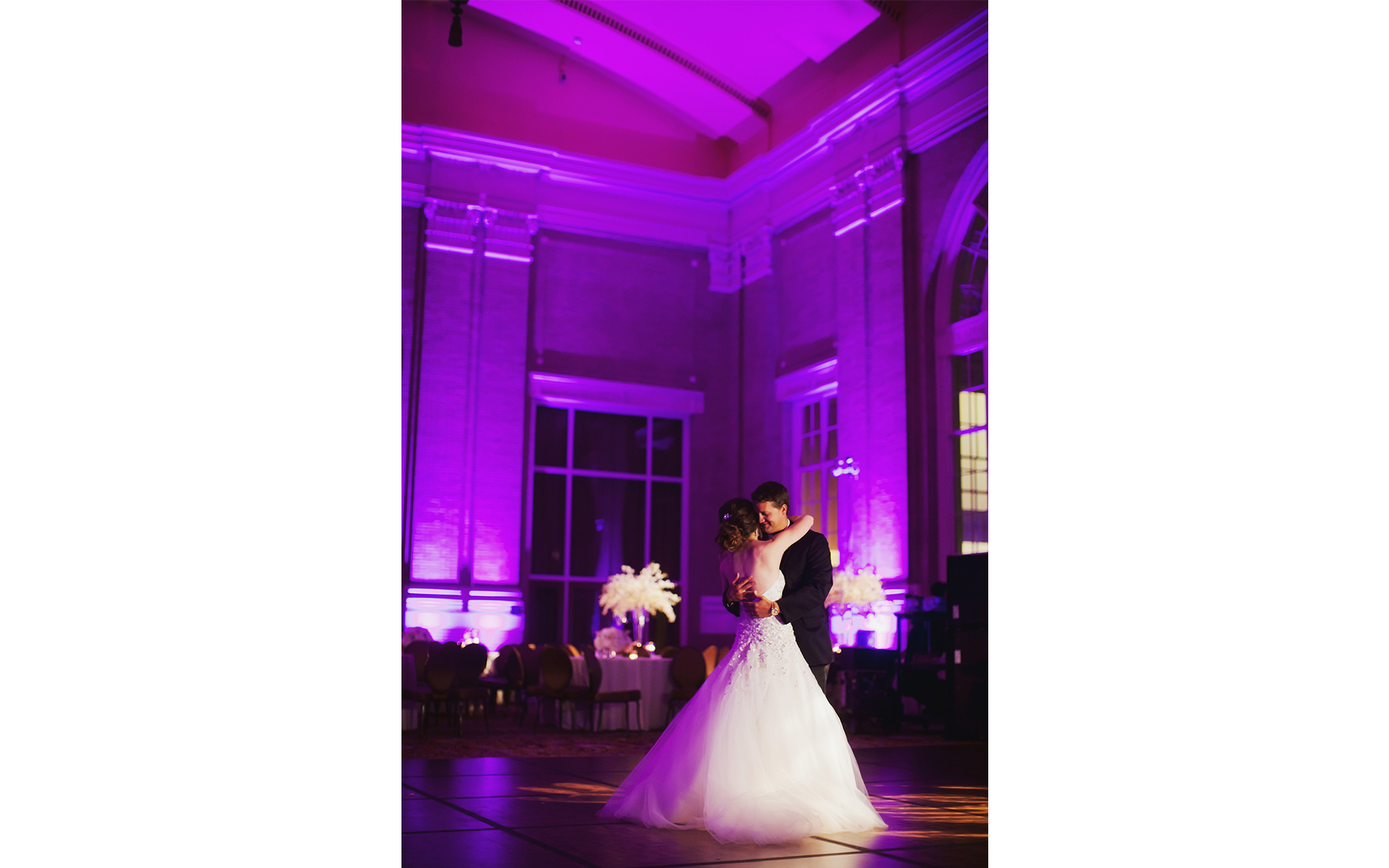 decor lighting at Union Station, Dallas Texas