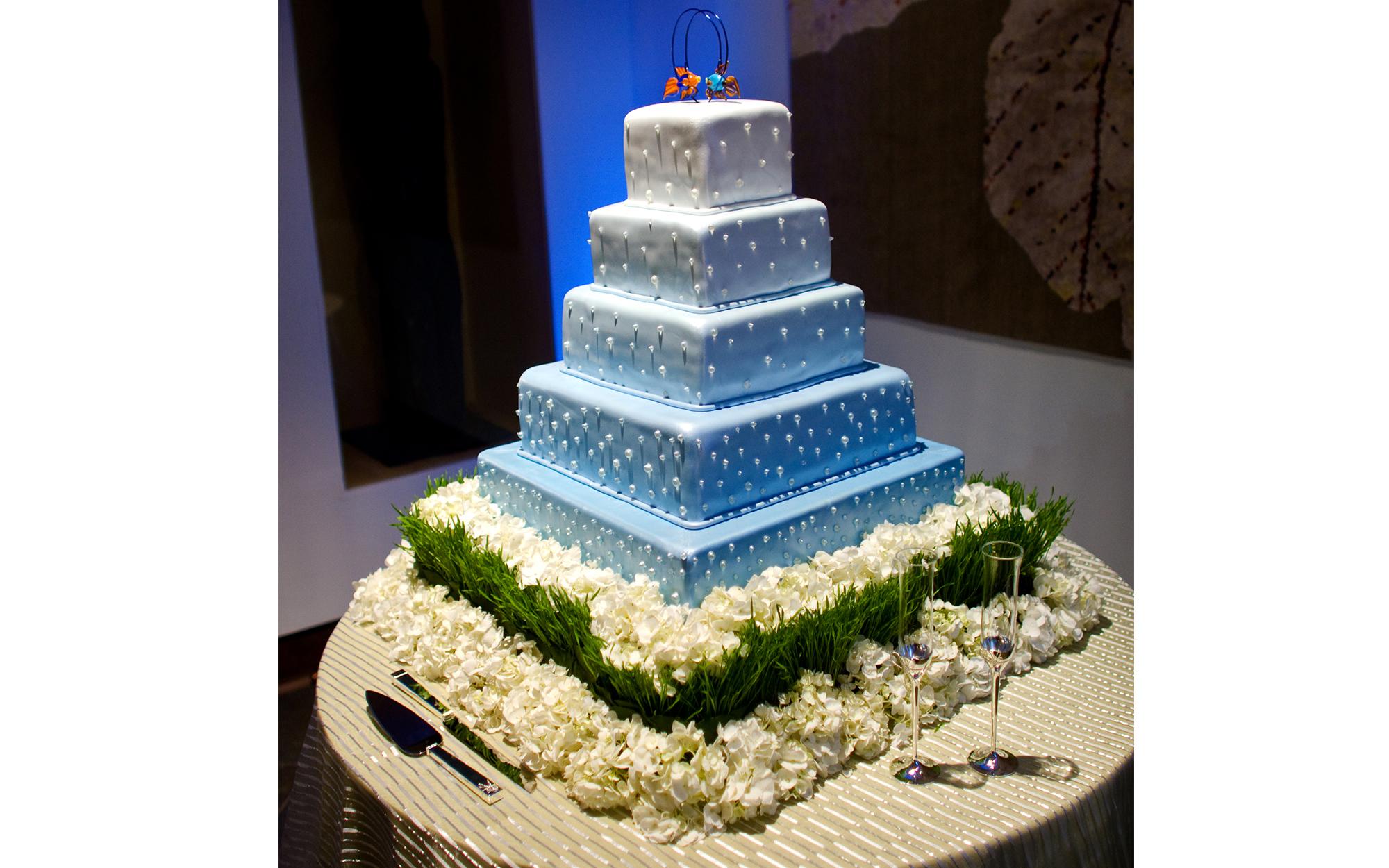 Lighting of Wedding Cake at Dallas World Aquarium