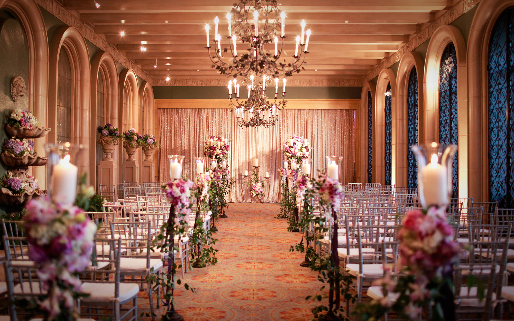 Wedding Ceremony Lighting at The Ft Worth Club