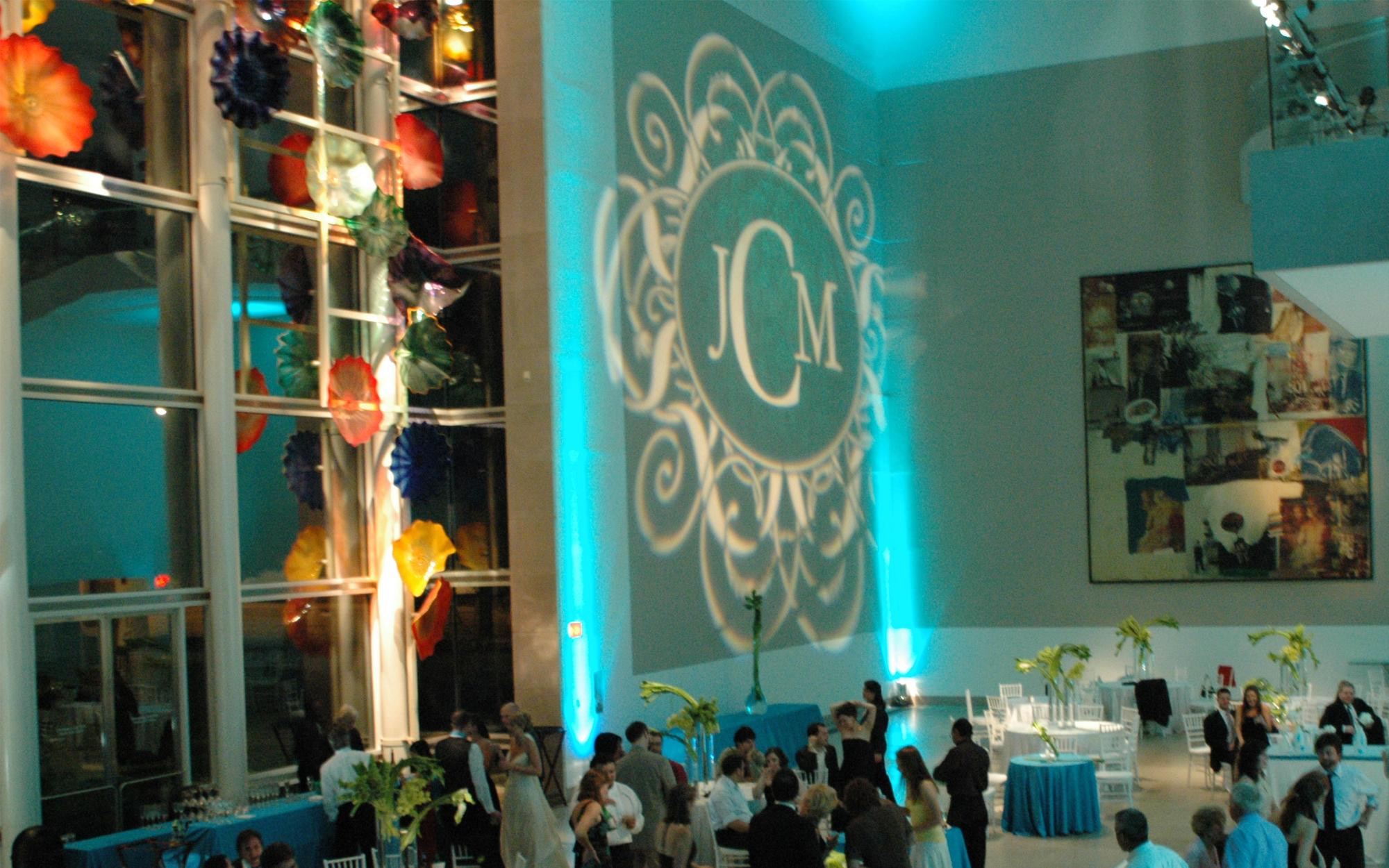 Gobo Projected in Atrium of Dallas Museum of Art