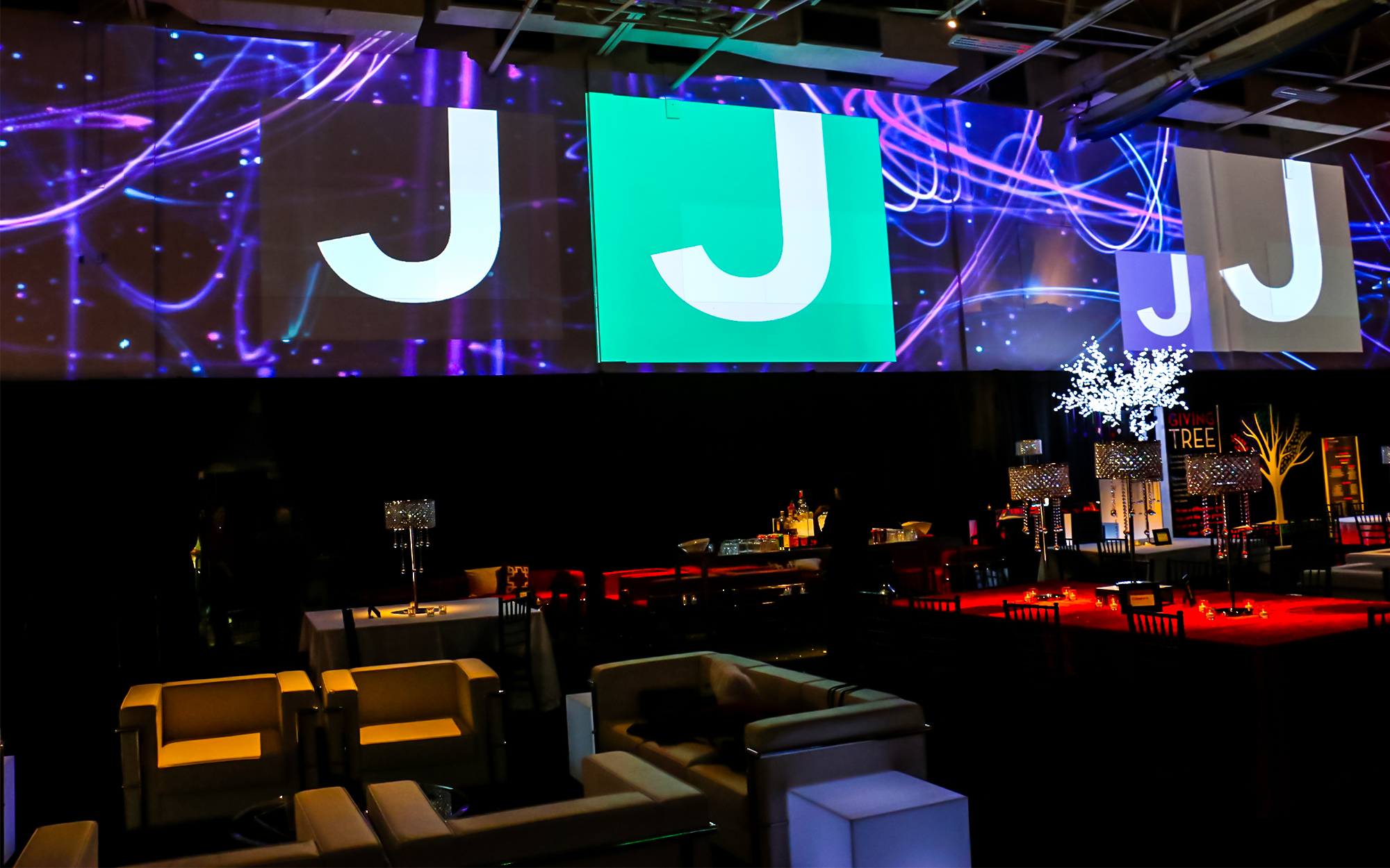 A 120' projection of the JCC logo