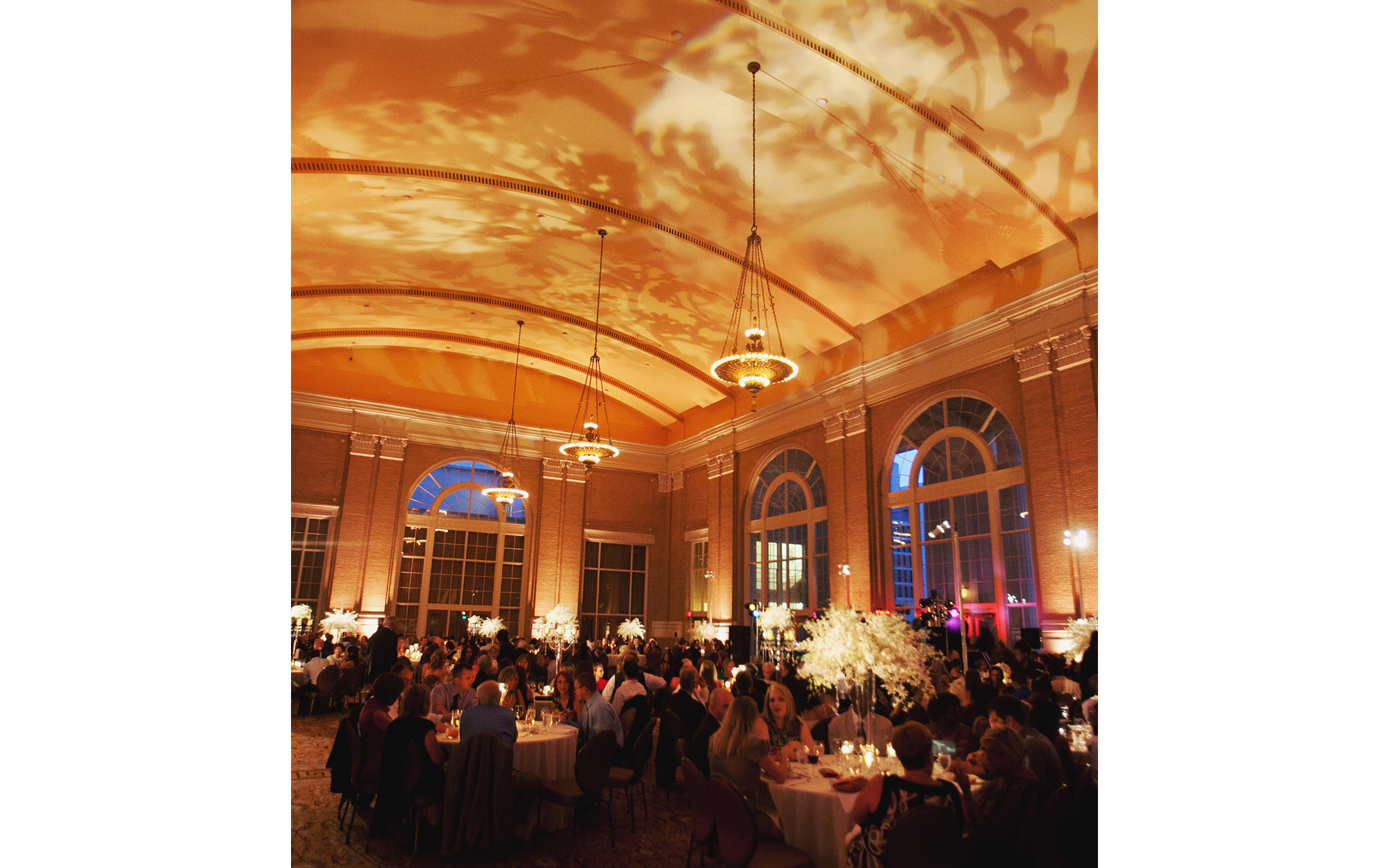 Gobo Projection on Union Station Ceiling Dallas, Texas