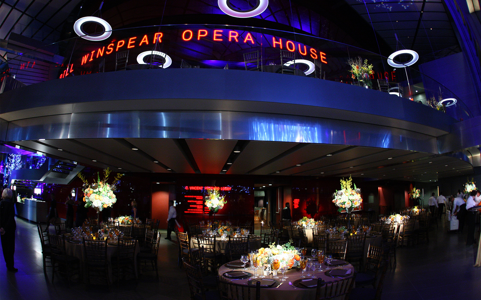 Decor Lighting at The Winspear Opera House Dallas Texas